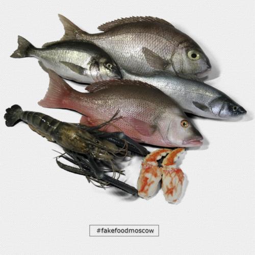 муляжи рыбы и морепродуктов
